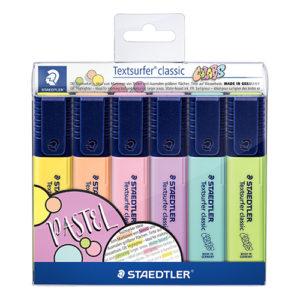 STAEDTLER - TEXTSURFER CLASSIC 364 - Colores Pastel - 6 Colores