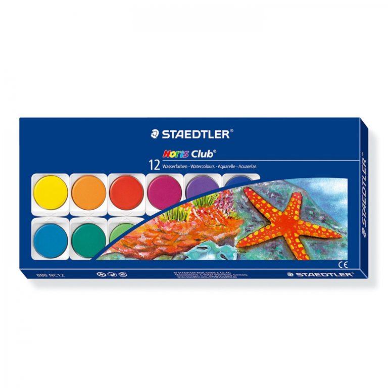 Acuarelas Staedtler de 12 colores