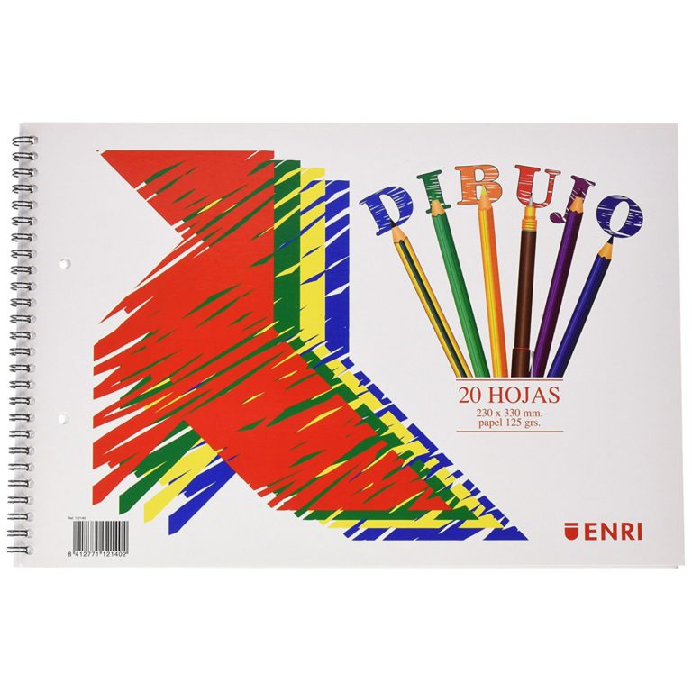 Bloc de dibujo folio liso microperforado 2 taladros ENRI