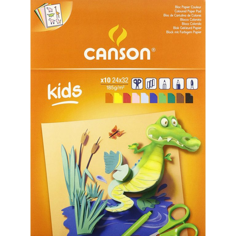 Bloc de cartulinas de colores A4 Little Kids Canson