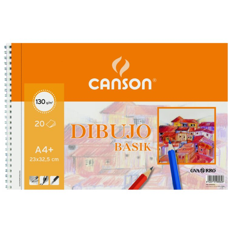 Bloc de dibujo espiral microperforado Basik A4+ liso Canson