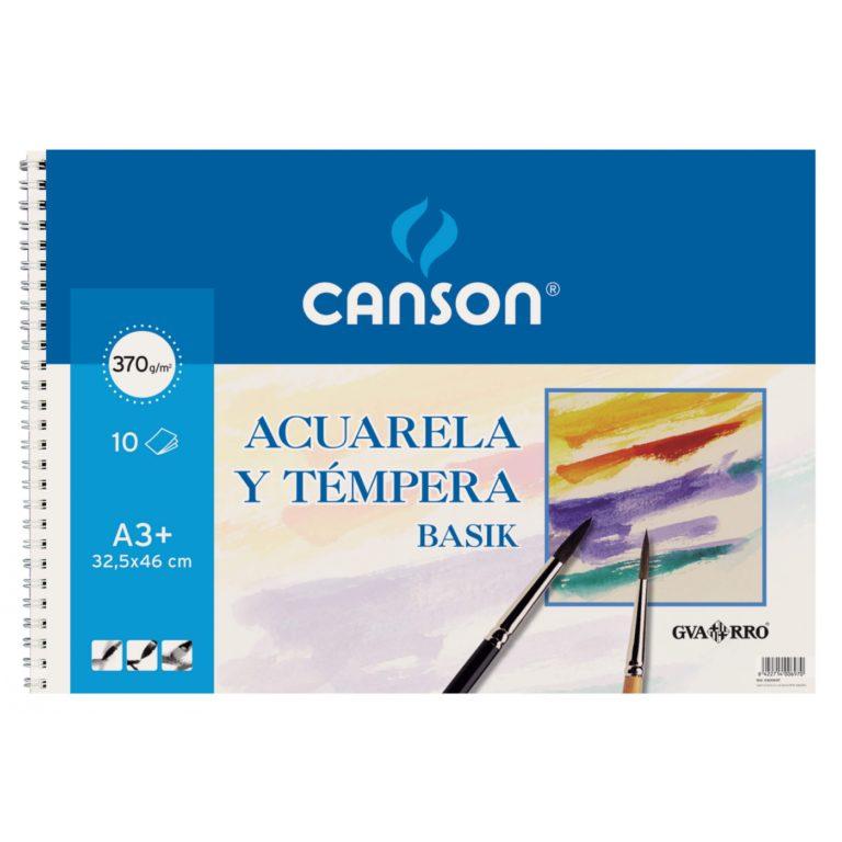Bloc ACUARELA Y TEMPERA Basik A3+ Canson
