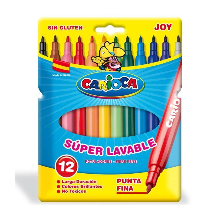 Rotuladores CARIOCA Joy de 12 colores