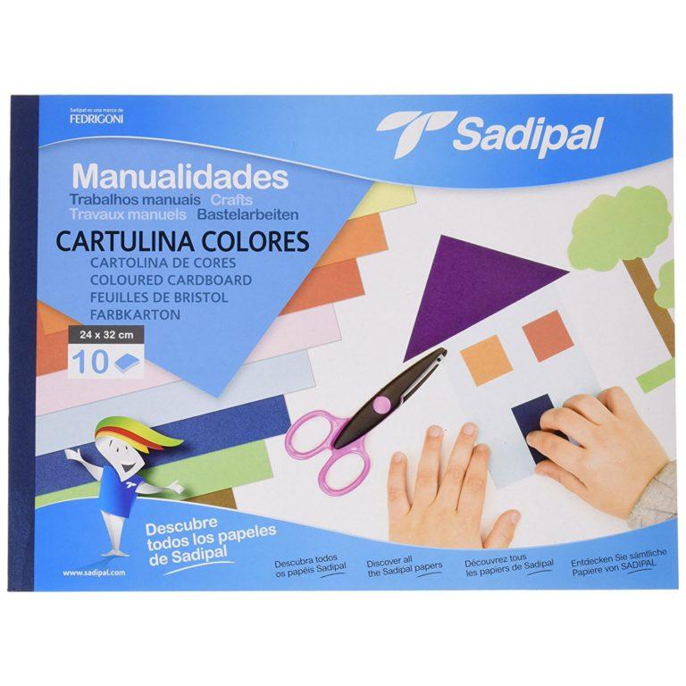 Bloc de 10 cartulinas de colores A4 Sadipal
