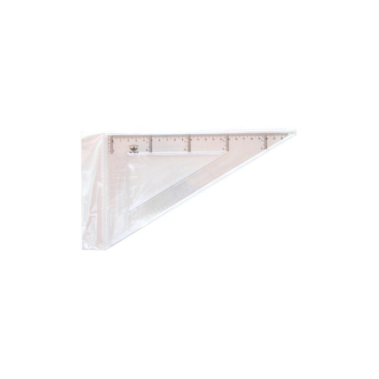 Cartabón escolar de 60º 25 cm de longitud DFH