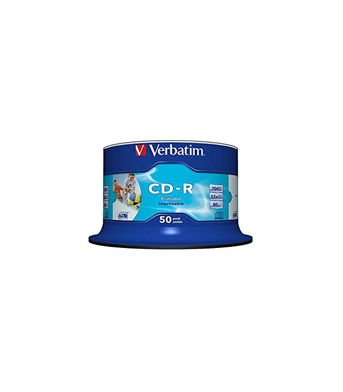 Bobina de 50 CD-R imprimibles VERBATIM
