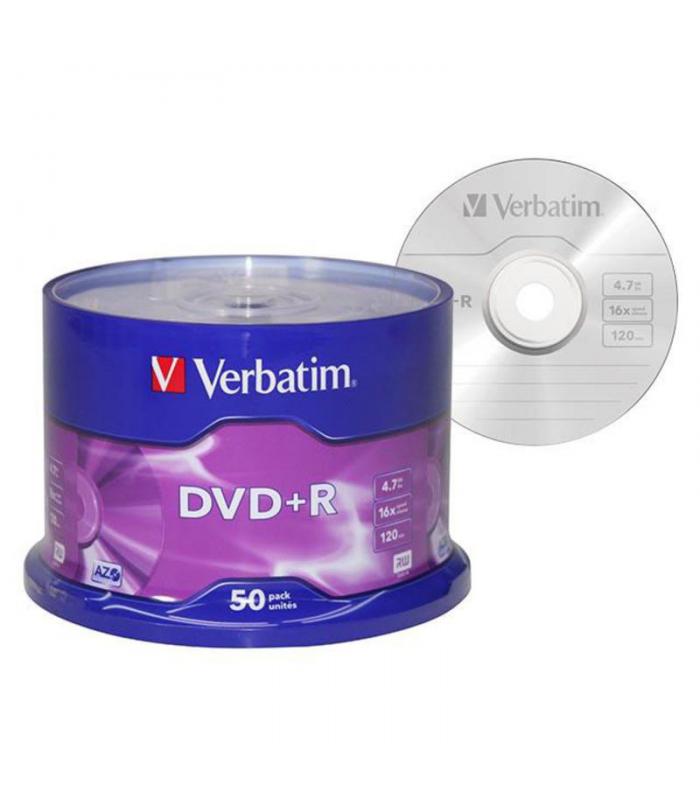 DVD+R 4.7gb bobina de 50 uds VERBATIM