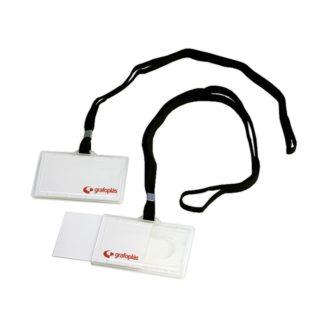 GRAFOPLAS - Portadistintivo rígido con cordón