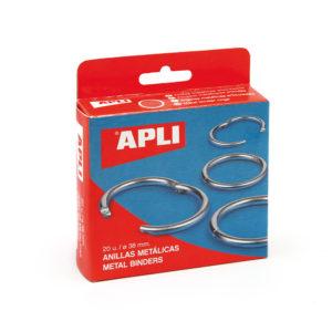 APLI - ANILLAS METALICAS ARTICULADAS - 25 mm - Caja 20 unidades