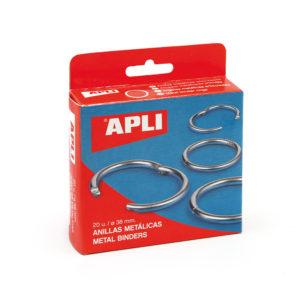 APLI - ANILLAS METALICAS ARTICULADAS - 46 mm - Caja 10 unidades