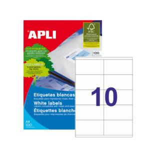 APLI - Caja Etiquetas - 100 Hojas - 105,0X 57,0