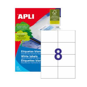 APLI - Caja Etiquetas - 100 Hojas - 105,0X 74,0