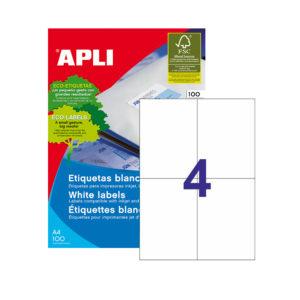 APLI - Caja Etiquetas - 100 Hojas - 105,0X148,0