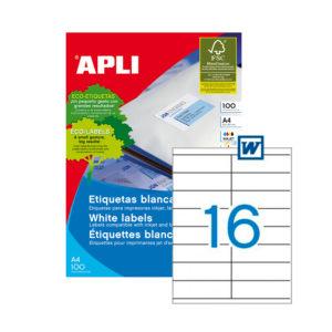APLI - Caja Etiquetas - 100 Hojas - 105,0X 35,0