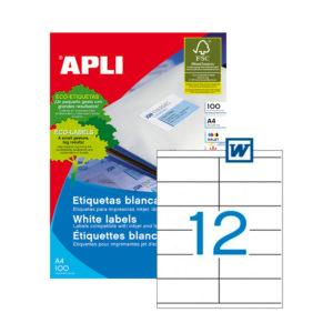 APLI - Caja Etiquetas - 100 Hojas - 105,0X 48,0