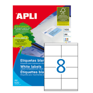 APLI - Caja Etiquetas - 100 Hojas - 105,0X 70,0