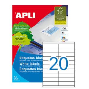 APLI - Caja Etiquetas - 100 Hojas - 105,0X 29,0