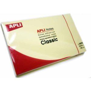 APLI - NOTAS ADHESIVAS CLASSIC - 125 x 75 mm - 1 bloc - 100 hojas