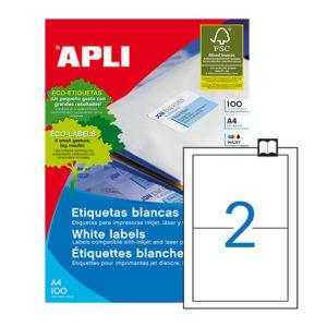 APLI - Caja Etiquetas - 100 Hojas - 175,0X135,0
