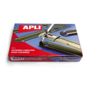 APLI - FASTENERS METALICO - Color dorado - Caja 50 unidades