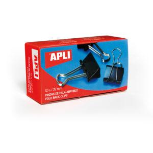 APLI - PINZAS PALA ABATIBLE - 1,5 x 32 mm - (120 hojas) - Caja 12 unidades