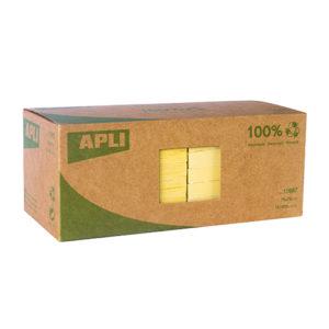 APLI - NOTAS ADHESIVAS CLASSIC - 75x75 mm - 12 bloc - 100 hojas