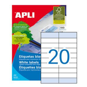 APLI - Caja Etiquetas - 100 Hojas - 105,0X28,75