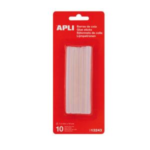 APLI - BARRAS DE COLA PARA PISTOLAS - Diametro 7,5 mm (pack 10 barras)