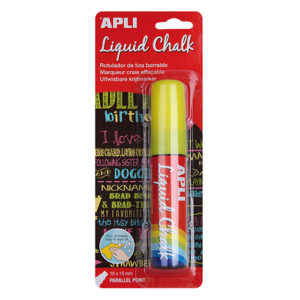 APLI - TIZA LIQUIDA - LIQUID CHALK - 10 x 15 mm - Amarillo