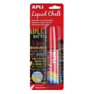 APLI - TIZA LIQUIDA - LIQUID CHALK - 10 x 15 mm - Rojo