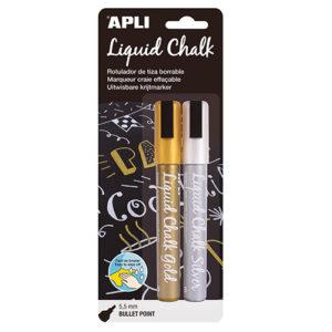 APLI - TIZA LIQUIDA - LIQUID CHALK - Oro y Plata