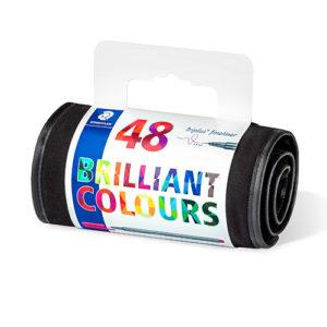 STAEDTLER - FINELINER TRIPLUS 334 - Roll up- 48 colores