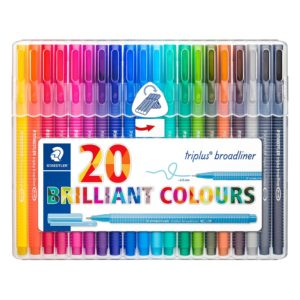 STAEDTLER - ROTULADOR BROADLINER 338 - Staedtler box - 20 colores