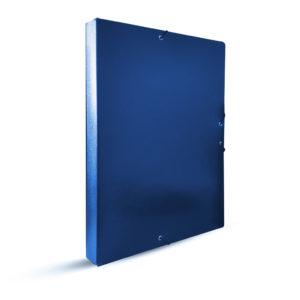 PROA - CARPETA DE PROYECTOS CON CIERRE DE GOMA - 30 mm - Azul
