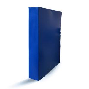 PROA - CARPETA DE PROYECTOS CON CIERRE DE GOMA - 50 mm - Azul