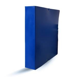PROA - CARPETA DE PROYECTOS CON CIERRE DE GOMA - 70 mm - Azul