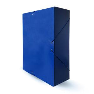 PROA - CARPETA DE PROYECTOS CON CIERRE DE GOMA - 100 mm - Azul