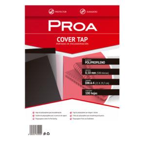 PROA - TAPAS ENCUADERNACION - 0,50 mm - 100 cubiertas por paquete - Negro