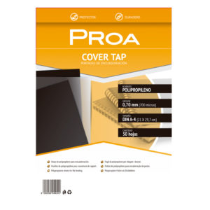 PROA - Tapas de encuadernar 0,7 mm - A4- Negro