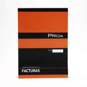 PROA -  TALONARIO FACTURAS 1/4 - Duplicado