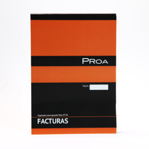 PROA -  TALONARIO FACTURAS 1/4 - Triplicado