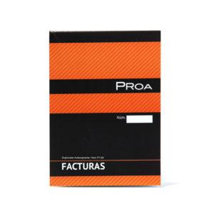 PROA -  TALONARIO FACTURAS 1/8 - Duplicado