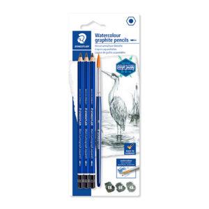 STAEDTLER - Lápiz de grafito acualerables - BLISTER