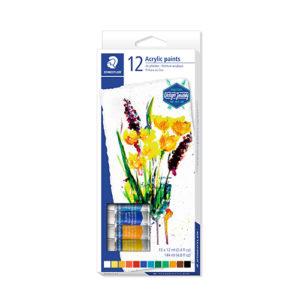 STAEDTLER - Pintura acrílica altamente pigmentada - 12 unidades - 8500