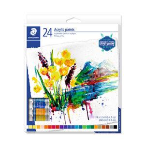 STAEDTLER - Pintura acrílica altamente pigmentada - 24 unidades - 8500
