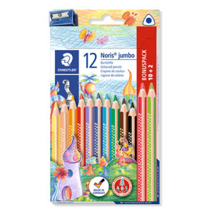 STAEDTLER - Lápiz de color triangular Jumbo Noris Club® 128 -12 Colores