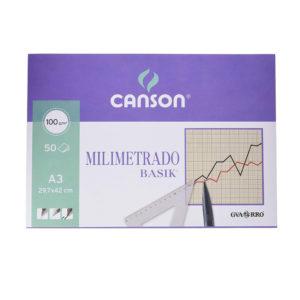 CANSON - Milimetrado blocs encolados 1 lado