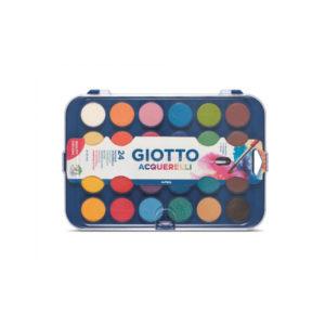 GIOTTO - Acuarelas en pastilla - 24 unidades + pincel