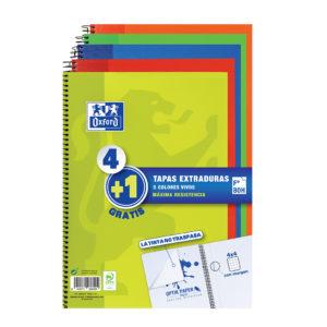 OXFORD - Cuadernos 4+1 tapa extra dura - Colores vivos