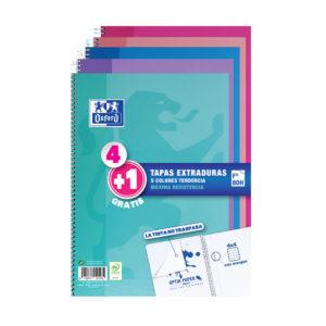 OXFORD - Cuadernos 4+1 tapas Extra duras - Colores tendencia
